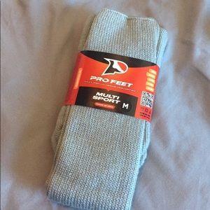 New grey athletic socks